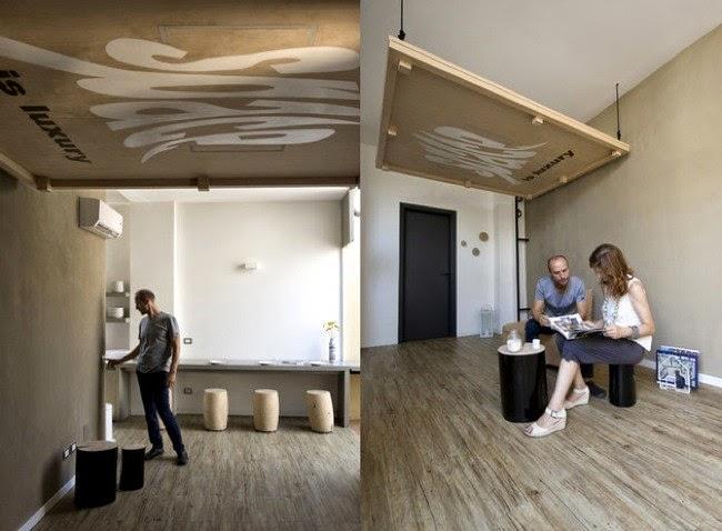 marzua camas art sticas que suben al techo una buena soluci n para apartamentos peque os. Black Bedroom Furniture Sets. Home Design Ideas