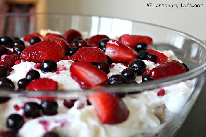 Layered Berry Angel Food Cake