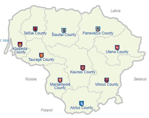 Pembagian wilayah administratif Lituania