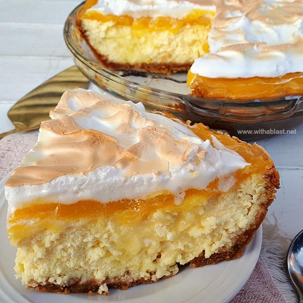Tart, sweet, decadent Lemon Meringue Cheesecake !  So good - everyone will want the recipe !