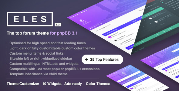 download Eles - Responsive phpBB 3.1 Theme