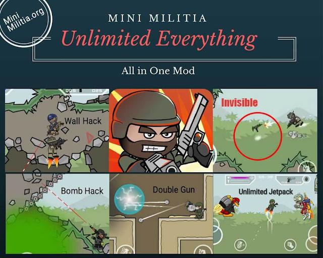 لعبه doodle army 2 mini militia مهكره لعبه
