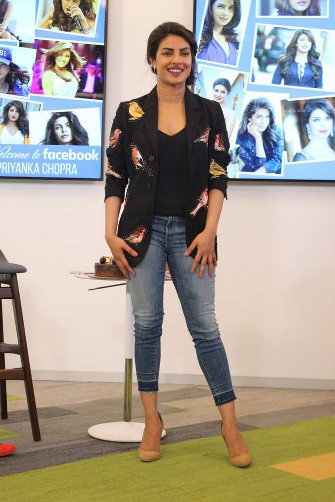Priyanka Chopra interactive session at the Facebook office