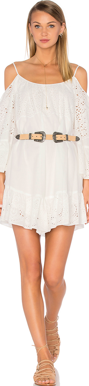 BCBGMAXAZRIA Cold Shoulder Dress