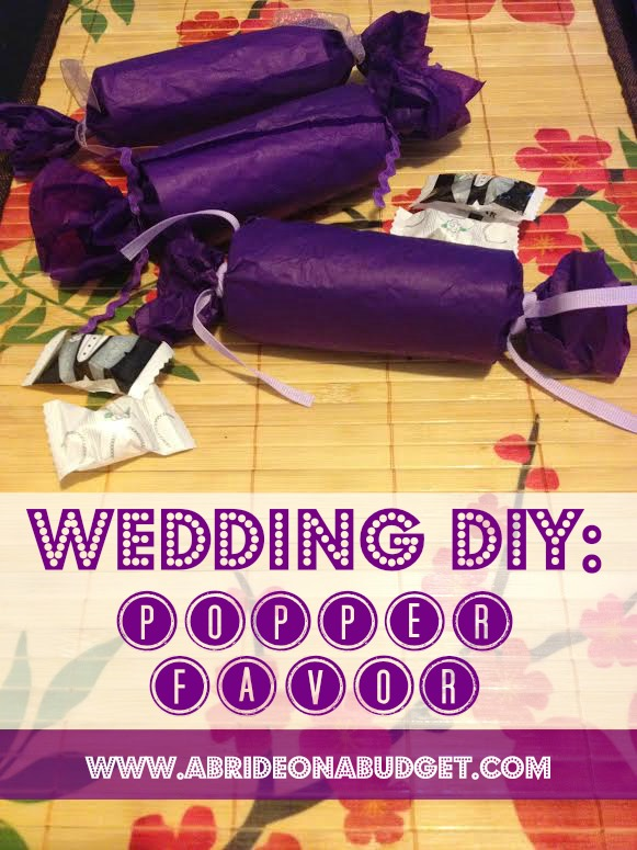 Save your toilet paper rolls to make these Wedding Popper Favors. Get the tutorial at www.abrideonabudget.com.