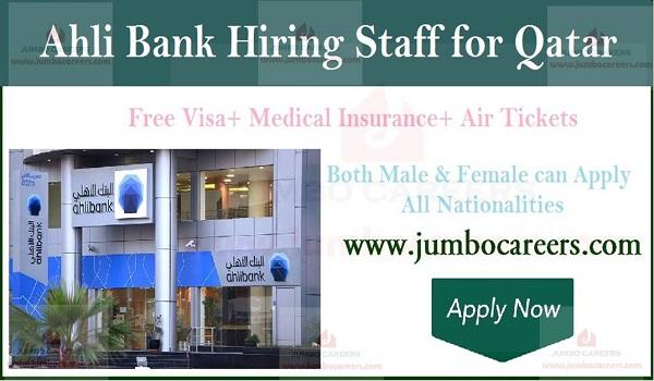 Ahli Bank Doha Qatar Jobs and Careers 2019 Latest Free Staff Recruitment