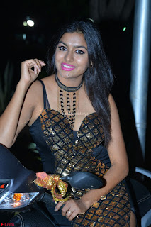 Sai Akshatha the black beauty in Black Deep Neck Lge Split Gown Exclusive Pics
