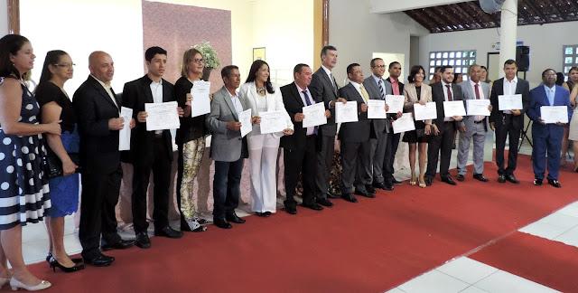 Vereadores, prefeito e vice-prefeito eleitos são diplomados em Escada