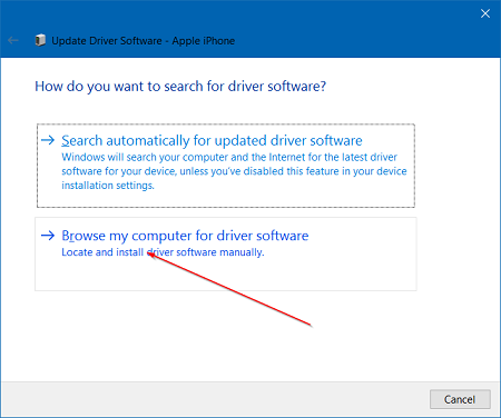 solve the problem Itunes cannot recognize Iphone in Windows 10