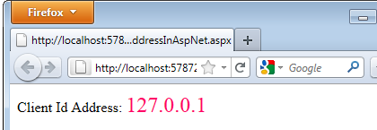 How to get a User's Client IP address in ASP NET using C# Net « Asp