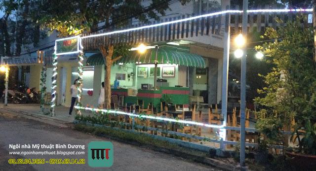thiết kế trang trí quán cafe cà phê coffee trà sữa rẻ đẹp tại Bình Dương