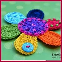 Flor de colores a crochet