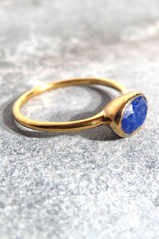 Bague Vadi Lapis Lazuli bleue