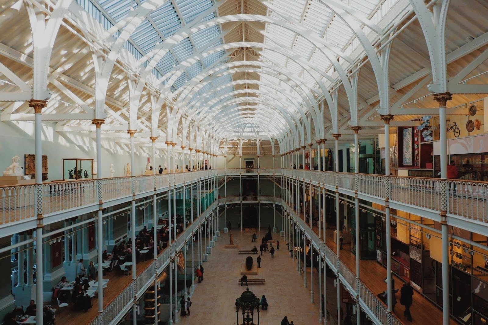 The main gallery in the National Museum of Scotland
