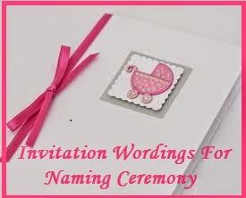 Sample Invitation Wordings Naming Cermony