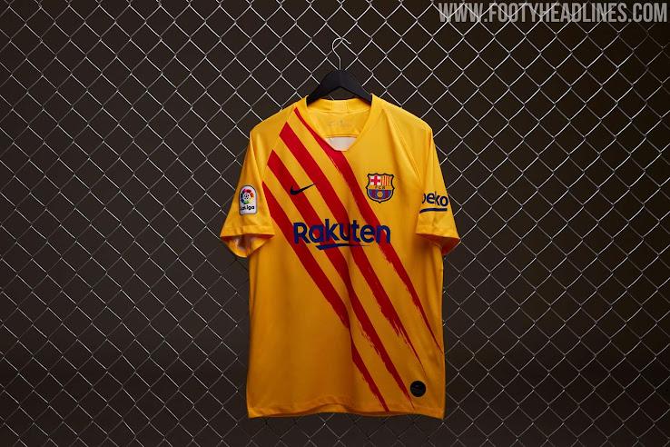 Fc Barcelona 19 20 Senyera Fourth Kit Released Full Collection Footy Headlines