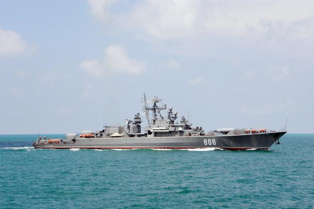 Rusia Kirim Kapal Perang Berpeluru Kendali ke Laut Baltik