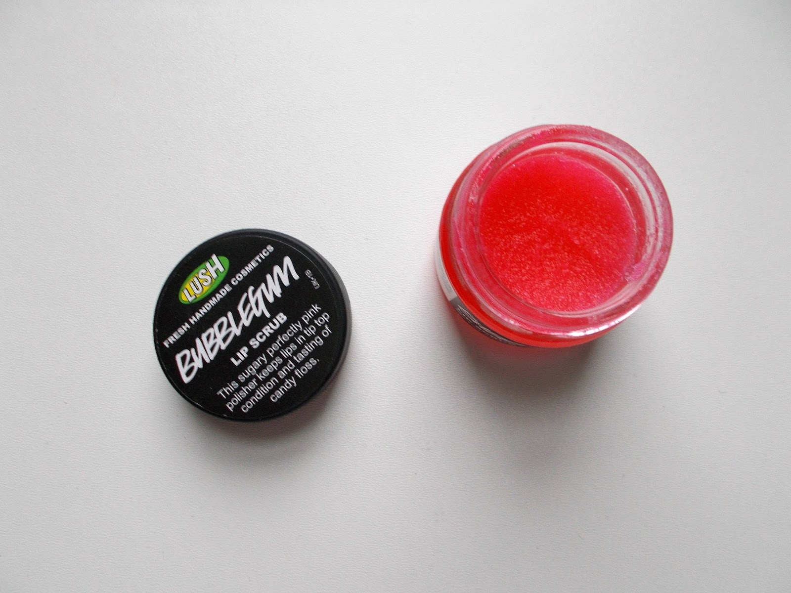 lush lip scrub review bubblegum