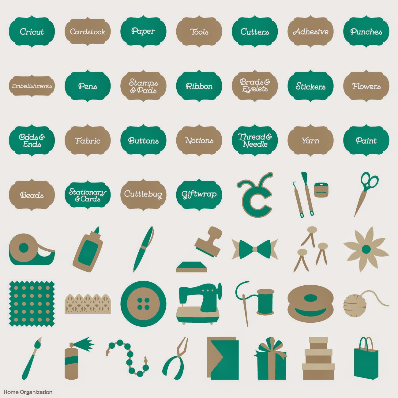 15 Articles To Help Organize Your Home For The New Year: Stamps Alive!: New Cricut Cartridge
