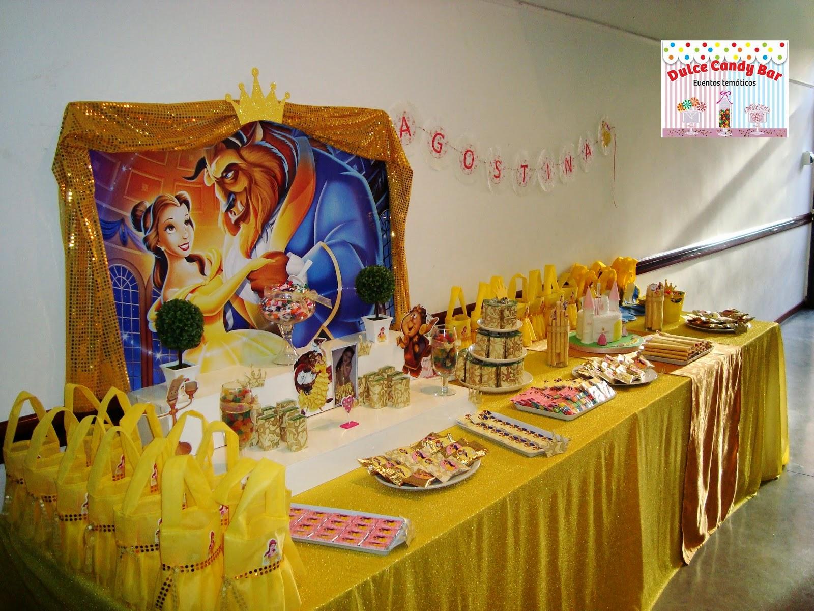 Dulce Candy Bar  Eventos Temticos Bella y Bestia para Agos