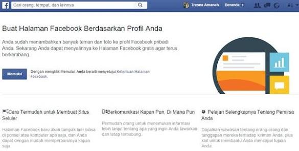 Cara Membuat Profil FB Jadi Halaman Fanspage Dengan Mudah