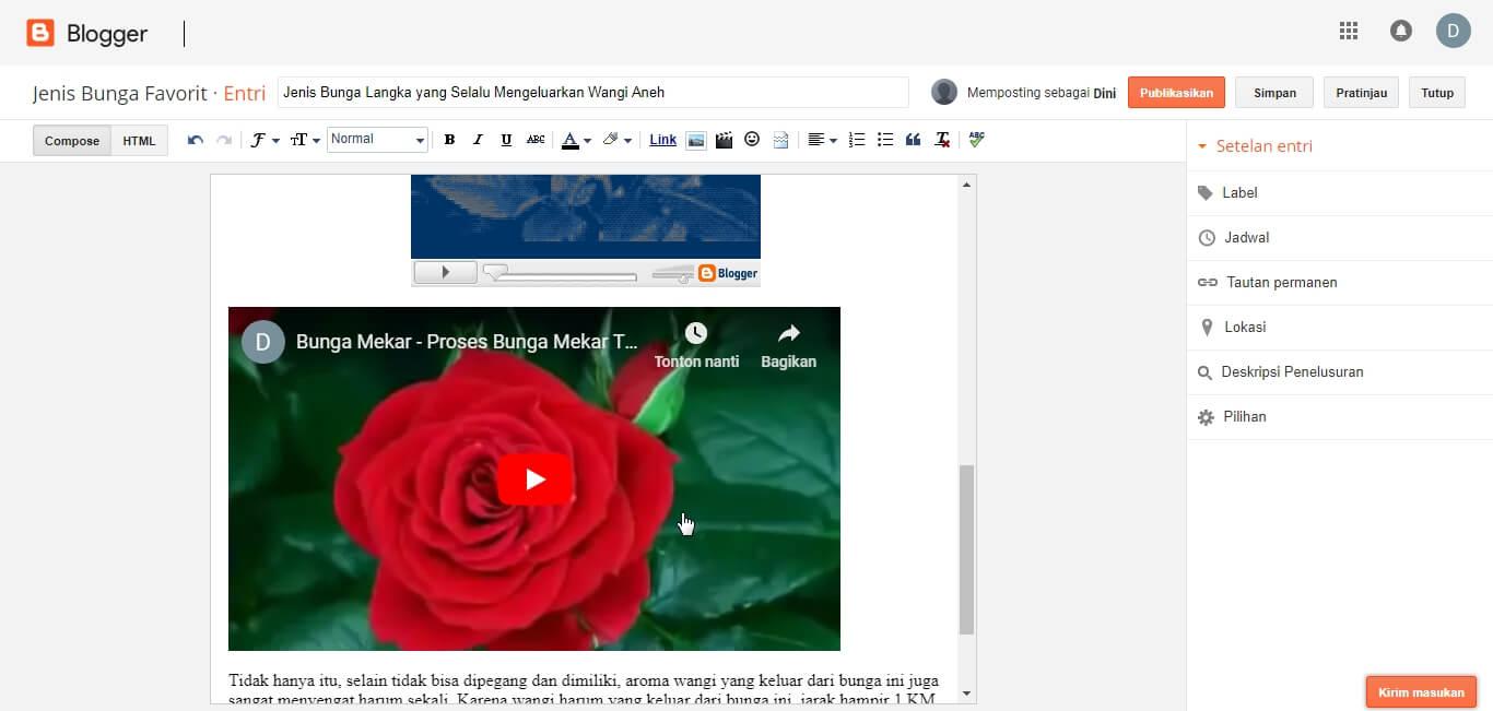 Cara Membuat Artikel dan Memasang Gambar dan Video