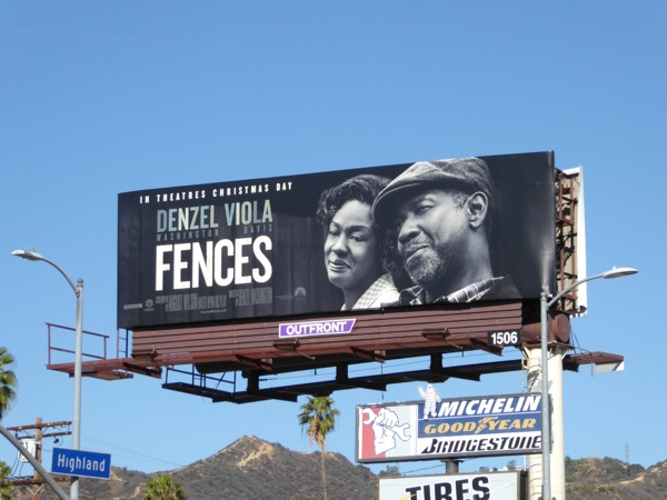 Fences movie billboard