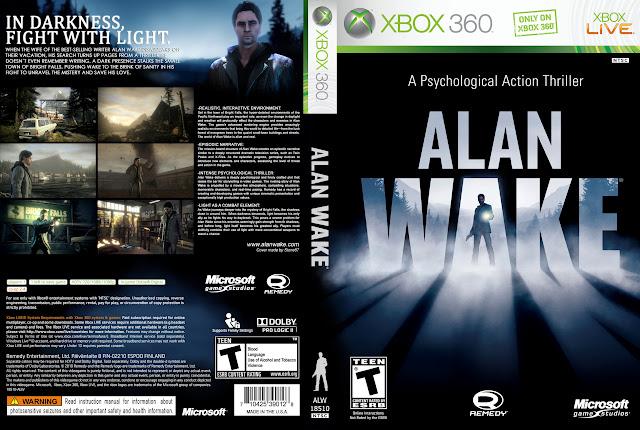 Capa xBox360 Alan Wake