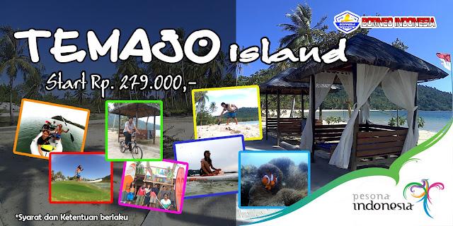 Temajo Bay Resort, pulau temajo mempawah, pasir putih temajo