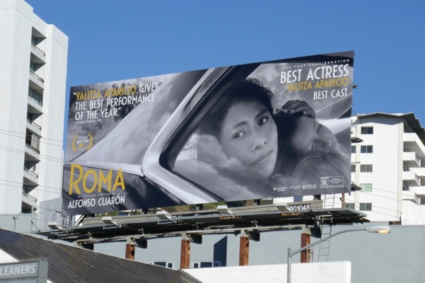 Roma movie For your consideration billboard