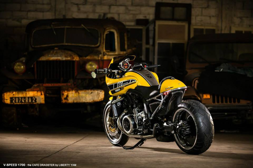 racing caf yamaha vmax v speed 1700 by liberty yam. Black Bedroom Furniture Sets. Home Design Ideas
