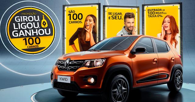 """Promoção Renault: """"Girou, Ligou, Ganhou"""" Blog Top da Promoção #topdapromocao"""