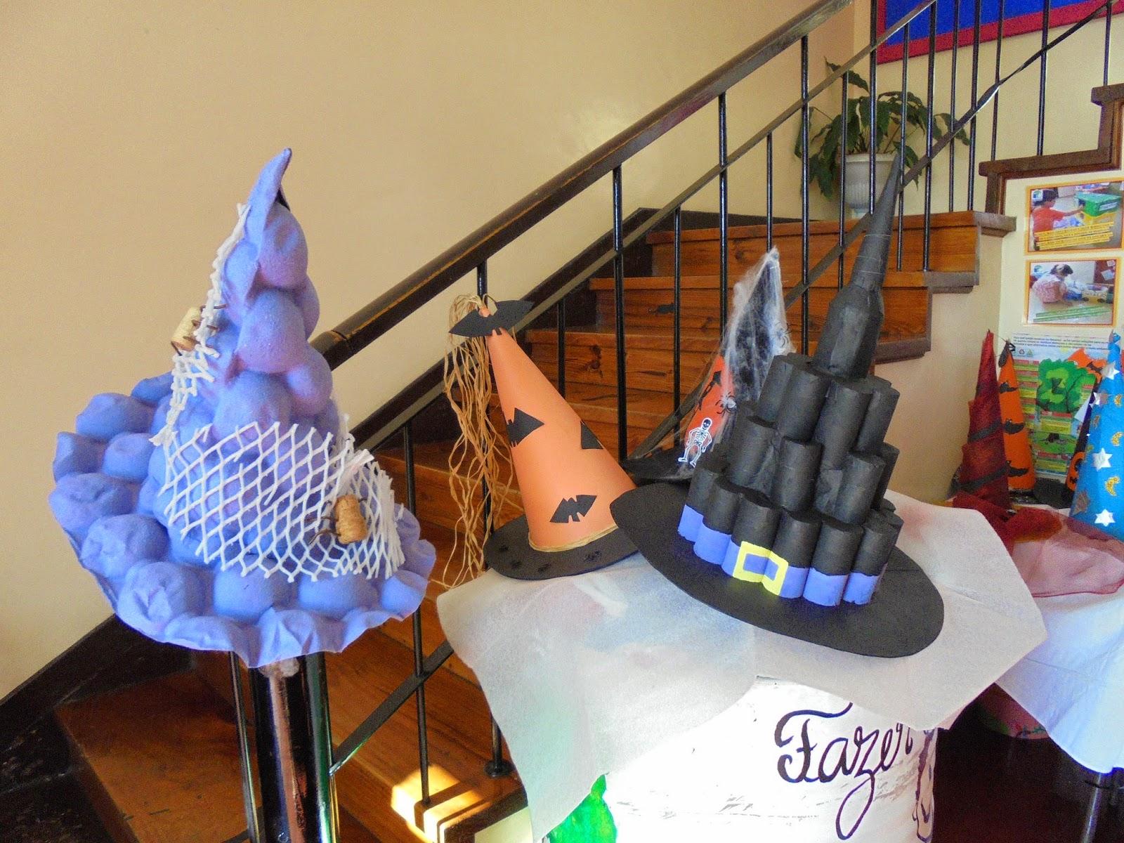 Blogue da EB1 PE do Areeiro Chapéus de Halloween # Decoração De Halloween Com Materiais Reciclados