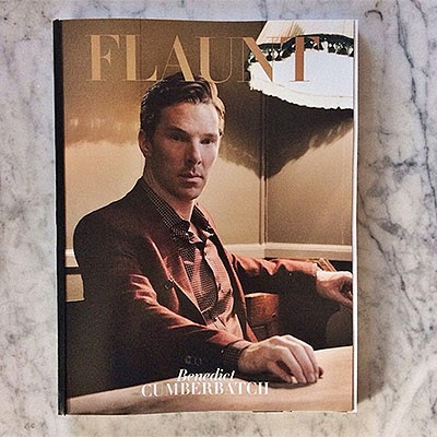 Benedict Cumberbatch in the latest issue of Flaunt