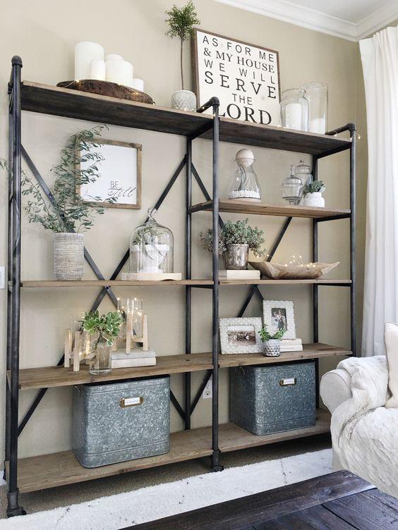 40 Creative Open Shelving Ideas For Living Room - Decor Units