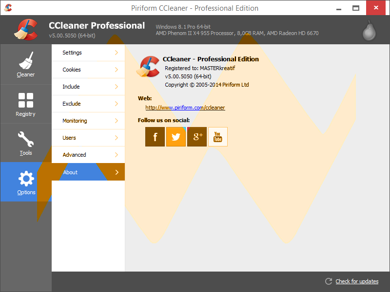 CCleaner v5.00 Professional Edition