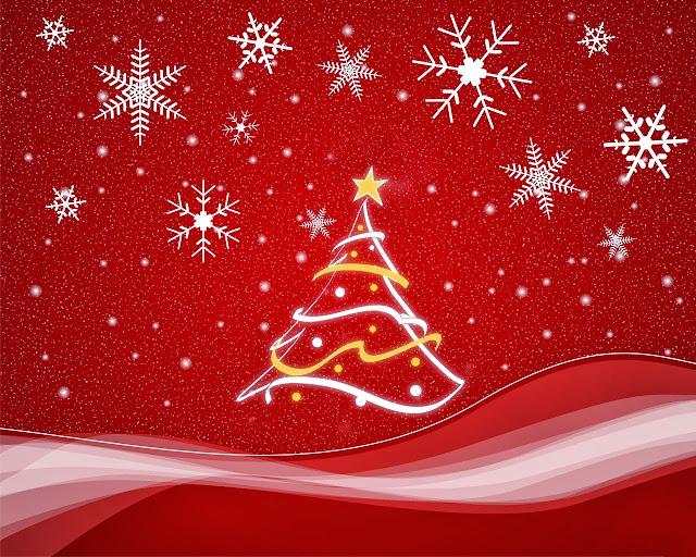 Achtergrond met ijssterren en kerstboom