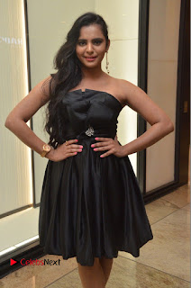 Actress Manasa Himavarsha Pictures in Black Short Dress at The Great Hydrerabad Life Style EXPO II  0052.JPG