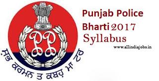 Punjab Police Syllabus 2017