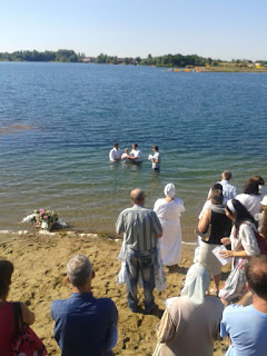 Baptism at the lake