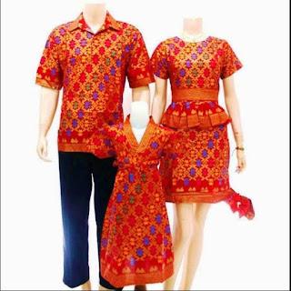 baju batik sarimbit keluarga dan anak