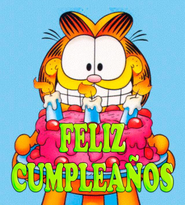 Garfield Feliz Cumpleaños