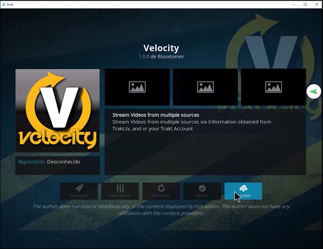 Velocity add-on install