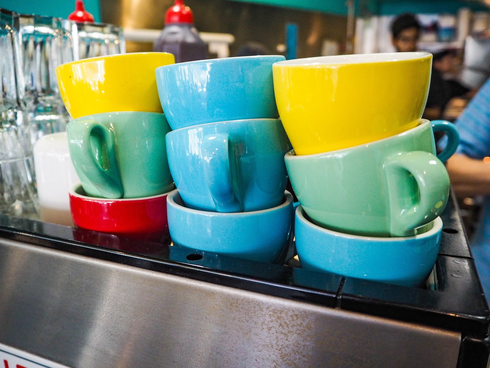 Colourful coffee cups