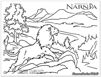 mewarnai gambar king aslan the chronicles of narnia