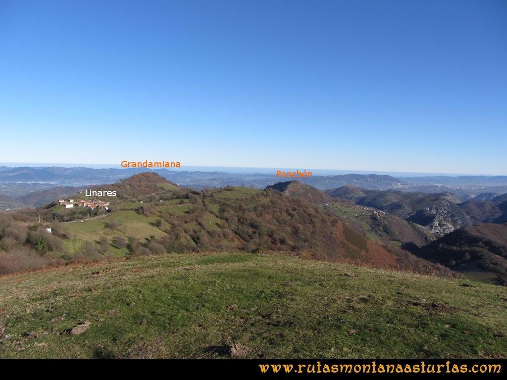 Area Buyera, picos Grandamiana y Plantón: Desde Canto la Cruz, vista de Grandamiana y Plantón