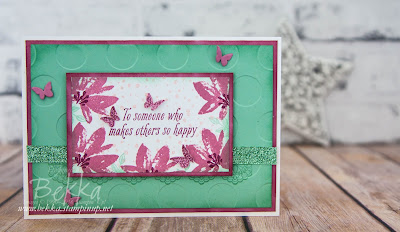 Avant Garden Special Thank You Card made with Stampin' Up! UK Supplies which are available here