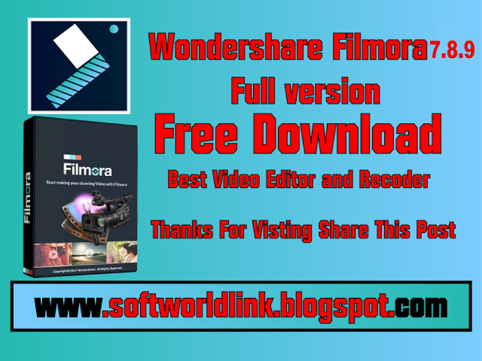 Wondershare Filmora 7 8 9 Full Version With patch|Free