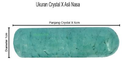 ukuran dan bentuk crystal x asli nasa - ptnasa.com