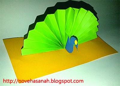 karya anak Cara Membuat Kerajinan Tangan Burung  Merak